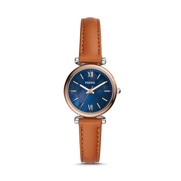 FOSSIL フォッシル CARLIE MINI カーリー ミニ 三針 タンレザーウォッチ レディース ES4701 腕時計