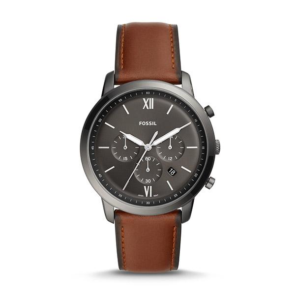 FOSSIL フォッシル NEUTRA ニュートラ クロノグラフ アンバー レザーウォッチ 44mm FS5512 腕時計