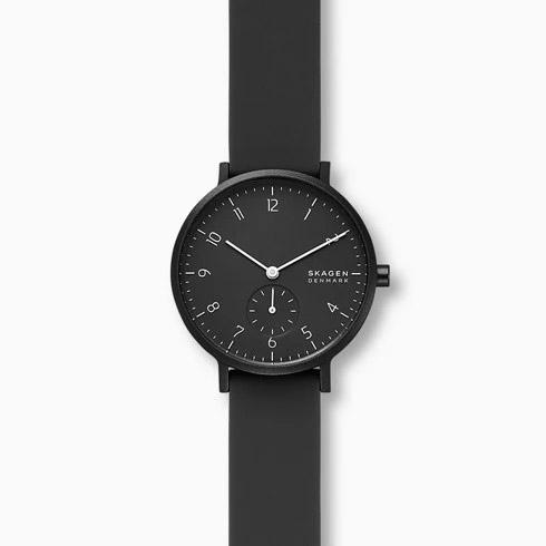 SKAGEN スカーゲン AAREN アーレン KULOR ブラックシリコンウォッチ レディース 36mm SKW2801 腕時計