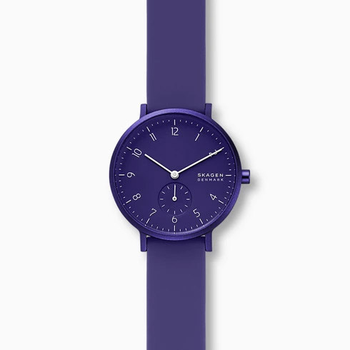 SKAGEN スカーゲン AAREN アーレン KULOR パープルシリコンウォッチ レディース 36mm SKW2802 腕時計