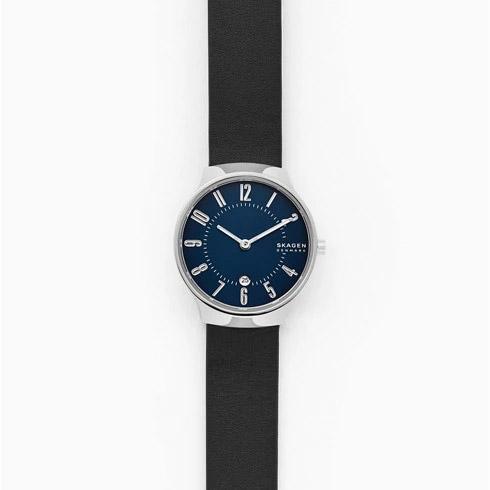 SKAGEN スカーゲン GRENEN グレーネン 二針デイト ブラックレザーウォッチ レディース 28mm SKW2807 腕時計
