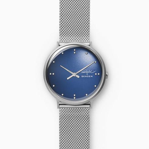 ポイント10倍 送料無料 国内正規品 SKAGEN スカーゲン X お気にいる FINN JUHL 二針 SKW6584 腕時計 買い取り 40mm メンズ シルバートーンスチールメッシュウォッチ ユール スカーゲンXフィン