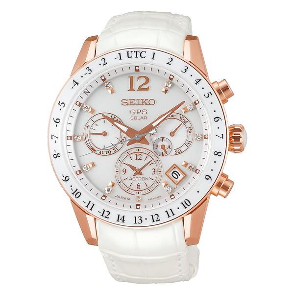 SEIKO セイコー ASTRON アストロン レディース 5Xシリーズ デュアルタイム ホワイト SBXC004 ソーラーGPS衛星電波時計 腕時計