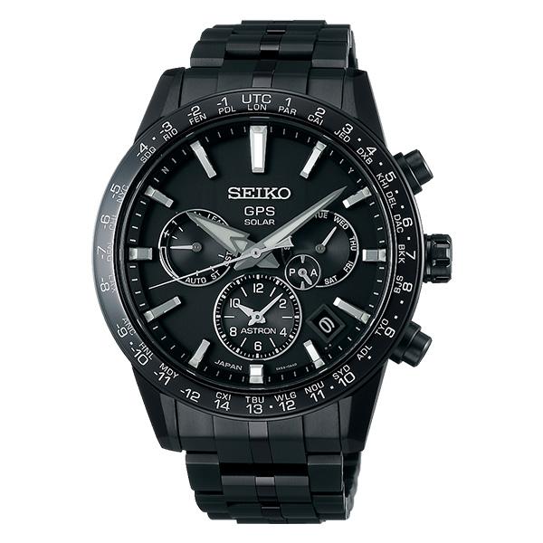【ノベルティプレゼント】SEIKO セイコー ASTRON アストロン 5X Series メンズ ブラック SBXC037 ソーラーGPS衛星電波時計 腕時計