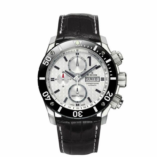 【ノベルティプレゼント】【メーカー取寄せ】EDOX エドックス CHRONOFFSHORE-1 CHRONOGRAPH AUTOMATIC クロノオフショア1 クロノグラフ オートマティック 01114-3-BIN-L 腕時計