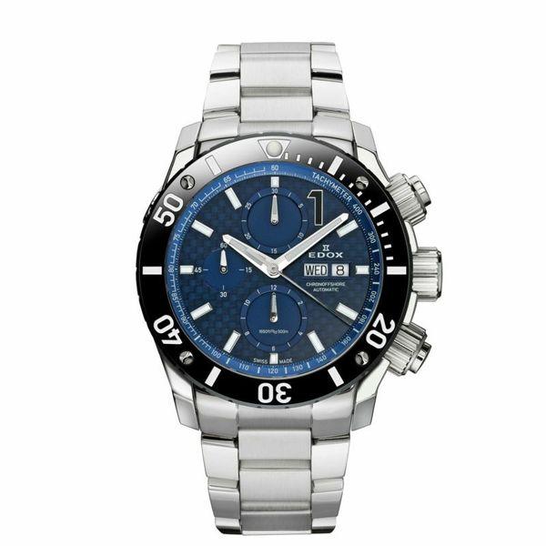【4,000円OFFクーポン】【ノベルティプレゼント】【メーカー取寄せ】EDOX エドックス CHRONOFFSHORE-1 CHRONOGRAPH AUTOMATIC クロノオフショア1 クロノグラフ オートマティック 01115-3-BUIN 腕時計