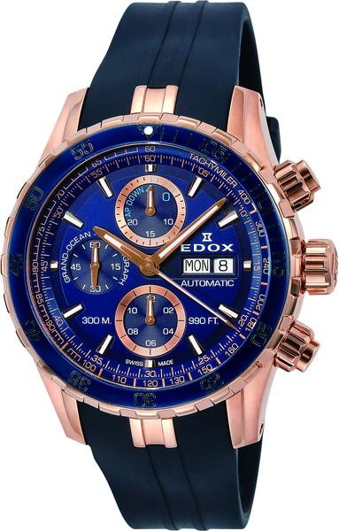 【ノベルティプレゼント】EDOX(エドックス)GRAND OCEAN グランドオーシャン ブルー ローズゴールド メンズ 01123-37RBU5-BUIR5 腕時計