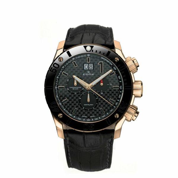 【ノベルティプレゼント】【メーカー取寄せ】EDOX エドックス CHRONOFFSHORE-1 CHRONOGRAPH BIG DATE クロノオフショア1 クロノグラフ ビッグデイト 10020-37R-NIR-L 腕時計
