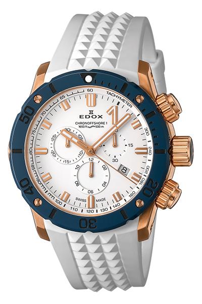 【ノベルティプレゼント】【予約注文】EDOX(エドックス) クロノオフショア1 クロノグラフ メンズ ホワイト 10221-37RBU75-BIR7 腕時計