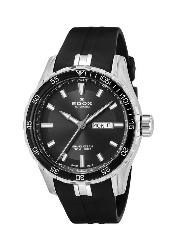 【ノベルティプレゼント】【メーカー取寄せ】 EDOX(エドックス) グランドオーシャン オートマチック メンズ デイデイト表示 ブラック 88002-3CA-NIN 腕時計