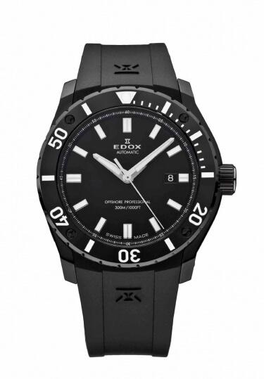 【4,000円OFFクーポン】【ノベルティプレゼント】【メーカー取寄せ】 EDOX(エドックス) クロノオフショア1 プロフェッショナル メンズ デイト表示 ブラック 80088-37N-NIN 腕時計