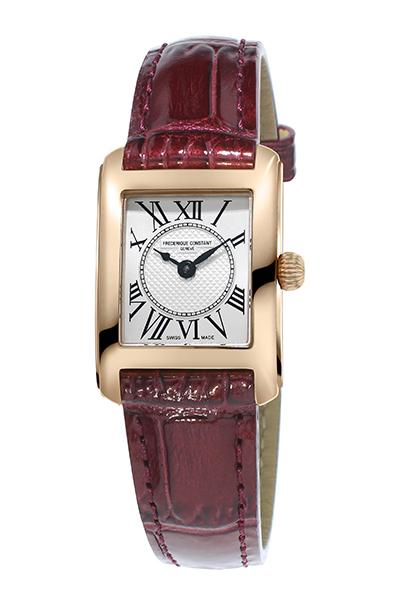 【30周年記念キャンペーン】FREDERIQUE CONSTANT フレデリックコンスタント CLASSICS CARREE LADIES クラシック カレ レディース バーガンディ FC-200MC14 腕時計
