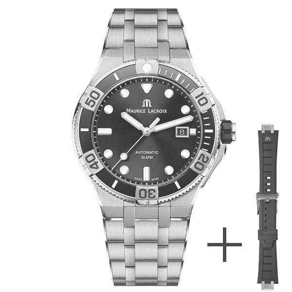 【ノベルティプレゼント】MAURICE LACROIX(モーリスラクロア) AIKON Venturer 43mm(アイコン ベンチュラー 43mm) AI6058-SS002-330-2【時計 腕時計】
