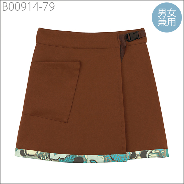 Gender Uni Wrap A Skirt With Fl Color Brown And All Types Of Uniforms S L Size