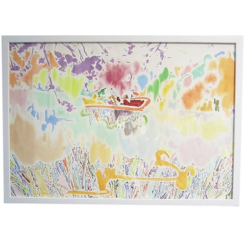 立川 陽介/Yosuke Tatsukawa:暮れにボート【水彩画】【アート】【インテリア】