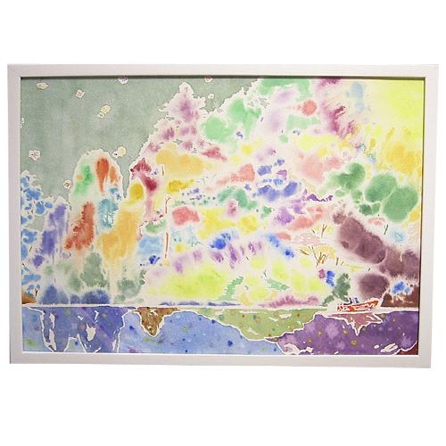 立川 陽介/Yosuke Tatsukawa:水面の記憶2【水彩画】【アート】【インテリア】