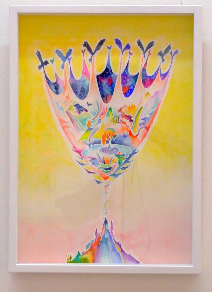 立川 陽介/Yosuke Tatsukawa:夜を運ぶ鳥たち【水彩画】【アート】【インテリア】
