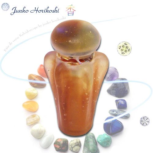 堀越 順子(Horikoshi Junko)  『香 アンバー -amber-』    ◆万華鏡◆カレイドスコープ◆オイルタイプ◆万花筒◆ガラス◆保証◆送料無料