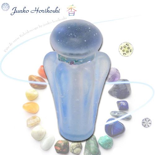 堀越 順子(Horikoshi Junko) 『香 アクアマリン -aquamarine-』 ◆万華鏡◆カレイドスコープ◆オイルタイプ◆万花筒◆ガラス◆保証◆送料無料