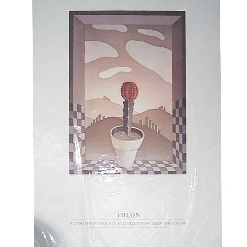ジャン ミッシェル フォロン:FOLON:1981フォロン展ポスター【アートポスター】