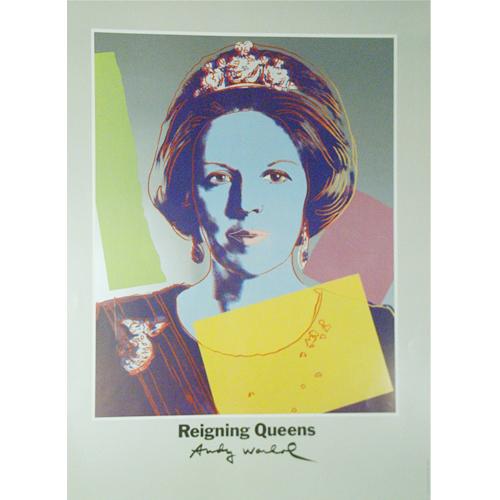 アンディ ウォーホル:展覧会ポスター/女王シリーズ/オランダ王妃【アートポスター】【ポップアート】【展覧会ポスター】