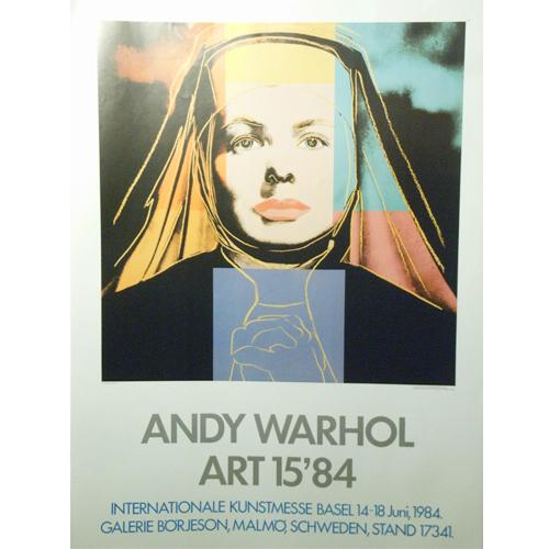 アンディ ウォーホル:展覧会ポスター/イングリッド・バーグマン/Ingrid Bergman/絶版商品【アートポスター】【ポップアート】【展覧会ポスター】
