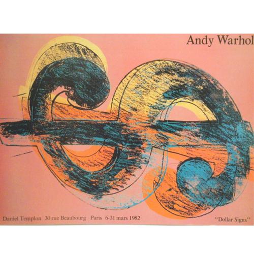 """アンディ ウォーホル:""""アンディ ウォーホル展""""DANIEL TEMPRON1982年 展覧会ポスター【アートポスター】【ポップアート】【展覧会ポスター】"""