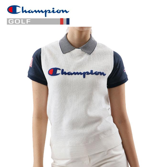 【送料無料】【あす楽対応】チャンピオン ゴルフウェア ベスト CW-PGA02-010 レディース 2019春夏