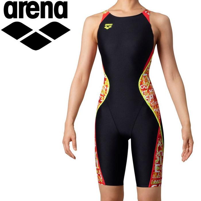 アリーナ 水泳 セイフリーバックスパッツ(着やストラップ) レディス ARN-0064W-BKOG
