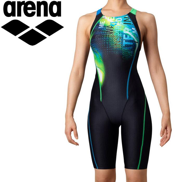 アリーナ 水泳 セイフリーバックスパッツ(着やストラップ) レディス ARN-0067W-BKGN