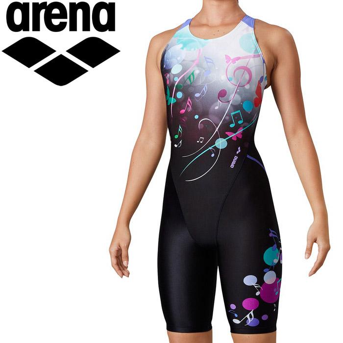 アリーナ 水泳 サークルバックスパッツ(ひっかけフィットパッド)(着やストラップ) レディス LAR-0203W-WHT