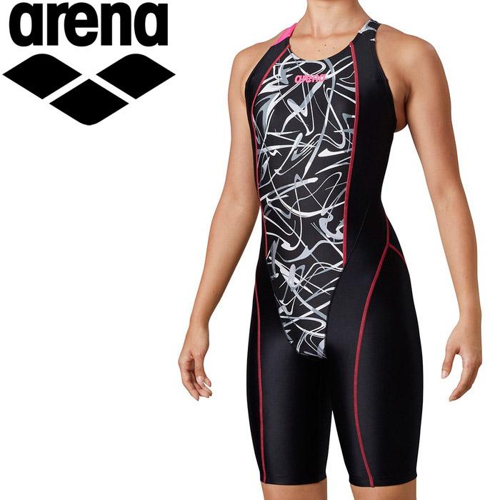 アリーナ 水泳 サークルバックスパッツ(ぴったりパッド)(着やストラップ) レディス LAR-0208W-BLK