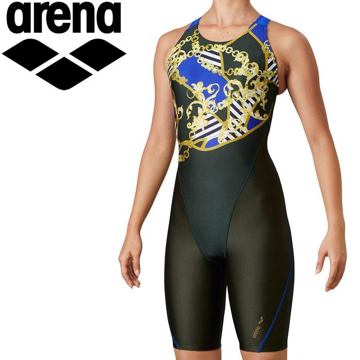 アリーナ 水泳 サークルバックスパッツ(ぴったりパッド)(着やストラップ) レディス LAR-0211W-KHK