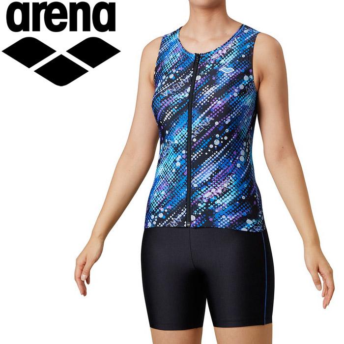 アリーナ 水泳 大きめカラースナップ付きセパレーツ(差し込みフィットパッド) レディス LAR-0253W-BLU