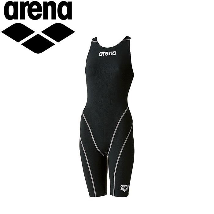 アリーナ 水泳 競泳水着 レーシング レディース ハーフスパッツオープンバック ARN7010W-BKBS 《返品不可》