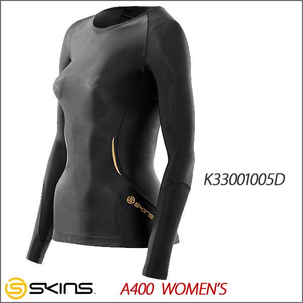 スキンズ A400 ロングスリーブトップ コンプレッションインナー レディース SKINS K33001005D