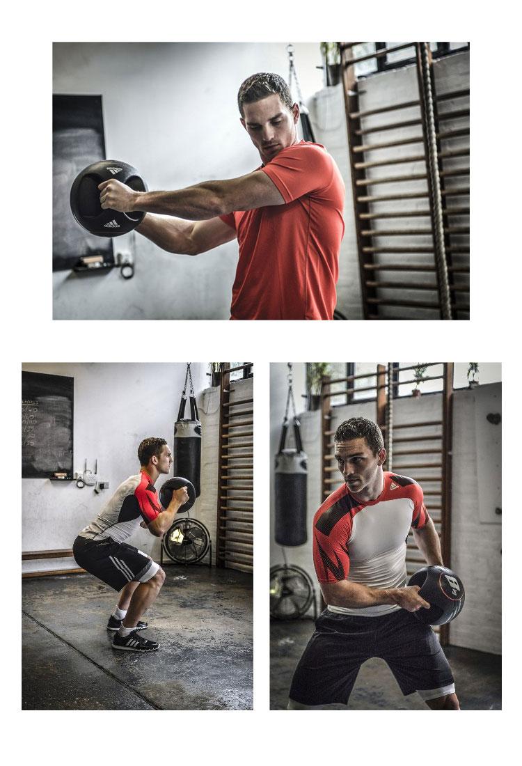 购物马拉松点数最大的35倍的(8/5(星期六)20:00~)◇adidas(阿迪达斯)deyuarugurippumedishimboru 3kg ADBL-10412健身训练