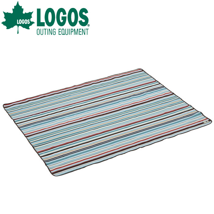 LOGOS ロゴスオックス防水シート・ピクニック(145×185cm)(ブルーストライプ)71809632