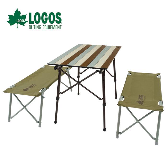 ロゴス LOGOS Life オートレッグベンチテーブルセット4(ヴィンテージ) 73188002