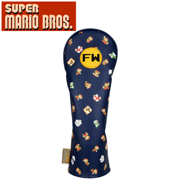 スーパーマリオブラザーズ Super Mario Bros SBHF002 高品質新品 フェアウェイウッド用 2020年モデル 店 ヘッドカバー