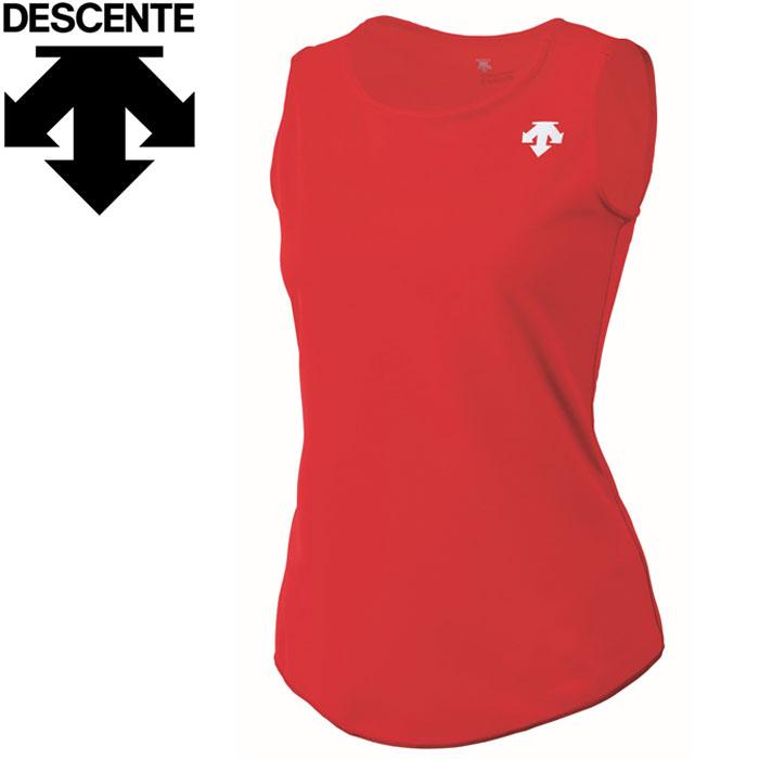 DESCENTE 【メール便対応】デサント 陸上 ランニングシャツ レディース DRN-4723W-RED