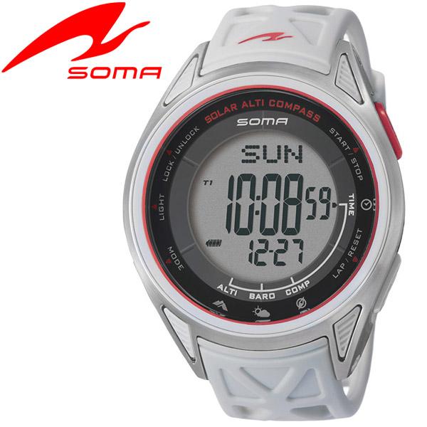 【ポイント最大43倍:9月11日(火)AM 1:59迄】ソーマ SOMA アウトドアウオッチ Ride ONE SOLAR ALTI COMPASS NS24703