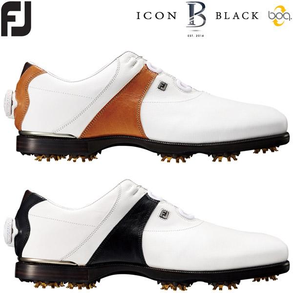 フットジョイ アイコン ブラック ボア メンズ ゴルフシューズ ICON BLACK Boa ソフトスパイク