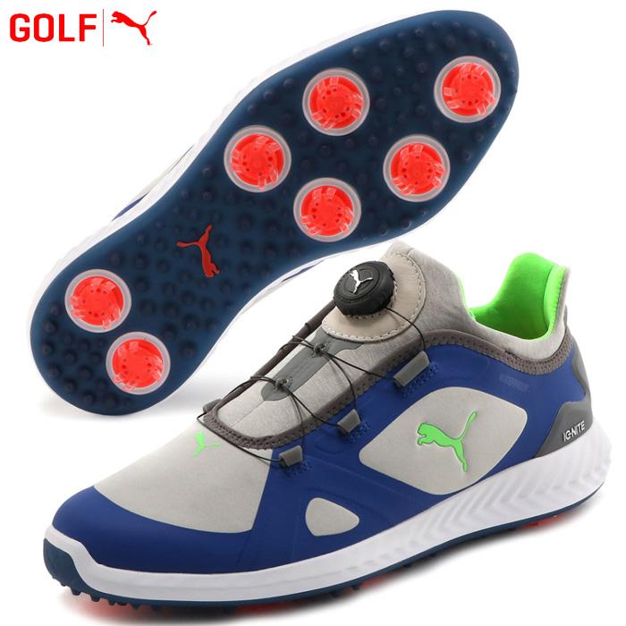 プーマ ゴルフシューズ メンズ ゴルフ イグナイト パワーアダプト ディスク 190582 10 2019年モデル ソフトスパイク