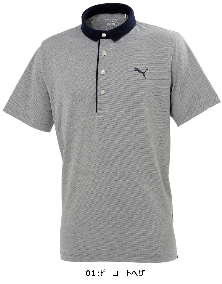 9ab8359949 Puma golf wear men diamond jacquard polo shirt short sleeves 577588 spring  and summer in the fall and winter