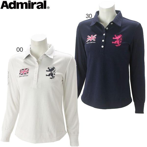 【あす楽対応】アドミラル ゴルフウェア レディース L/S フラッグ ポロシャツ ADLA717 秋冬