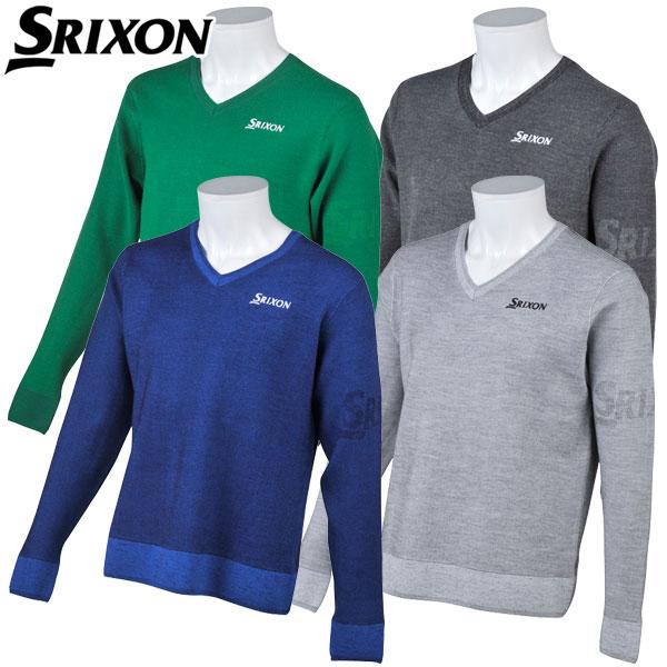 【あす楽対応】スリクソン ゴルフウェア メンズ Vネックセーター RGMMJL01 SRIXON 2018秋冬