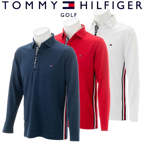 【あす楽対応】トミーヒルフィガー ゴルフウェア メンズ 長袖ポロシャツ THMA877 2018秋冬