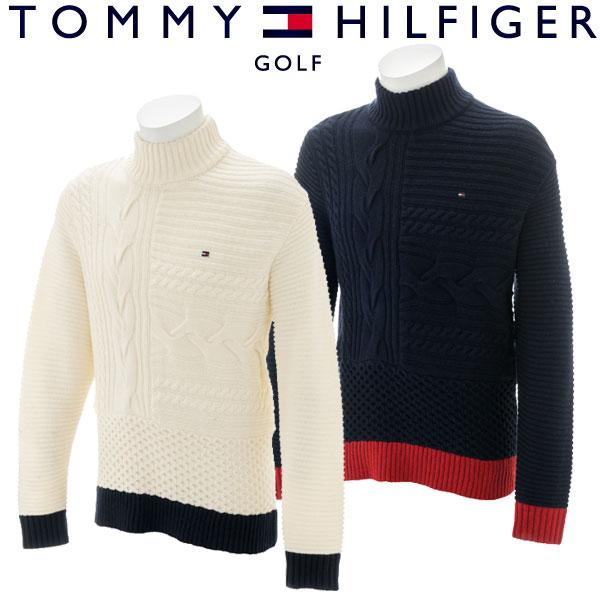 【あす楽対応】トミーヒルフィガー ゴルフウェア メンズ ニット THMA8A6 2018秋冬 30%OFF
