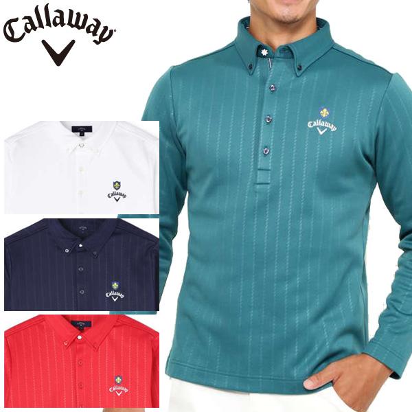 【あす楽対応】キャロウェイ ゴルフウェア メンズ B.D.カラーシャツ 241-8256507 2018秋冬